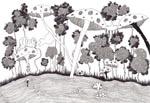 Alice, marqueur et stylo bille sur papier velin, 210x297 mm