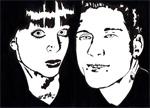 Marie&Arnaud, 2014, marqueur sur papier recyclé, 210x297 mm