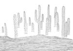 Cactus,  2015, marqueur, feutre et stylo bille sur papier recyclé, 210x297 mm