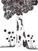 Chardons, 2014, stylo bille sur papier recyclé, 210x297 mm