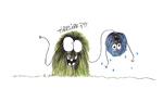 Boules de Poil, Tirelire ?, dessin à l'encre de chine et aux crayons de couleur, 15x21 cm