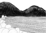 Lac, 2016, collage, encre de chine et feutres fins