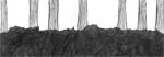 Feuillages, 2016, collage et encre de chine
