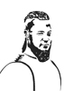Ragnar, 2016, feutre fin, encre de chine et feutres à alcool, 21x29,7 cm
