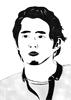 Glenn, 2016, feutre fin, encre de chine et feutres à alcool, 21x29,7 cm
