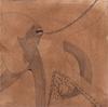 Octopus, 2017, broux de noix, feutre et stylo bille sur papier Velin, 21x21 cm