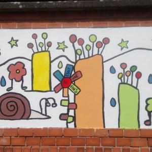 Réalisation d'une fresque narrative, Maternelle MS Schluthfeld, 2017-2018